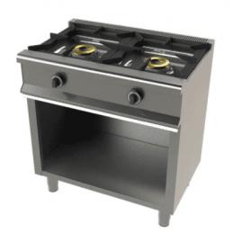Cocina a gas con mueble de 2 fuegos