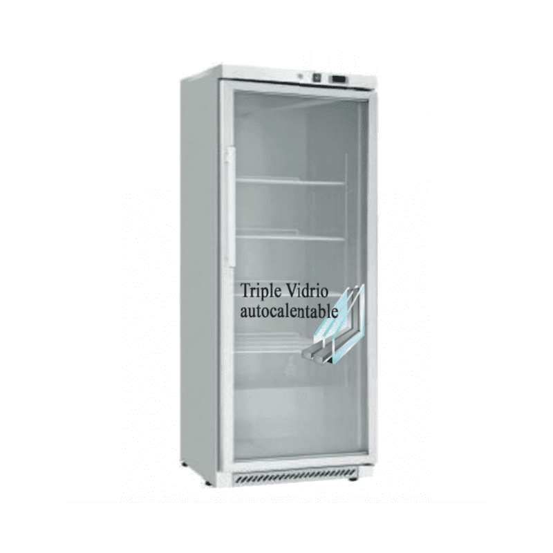frigorifico expositor refrigueracion 400 litros eutron con puerta de triple cristal antiempañamiento
