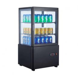 Expositor Refrigerado 4 Caras 58 litros negro