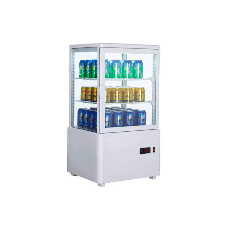 Expositor Refrigerado 4 Caras 58 litros Blanco