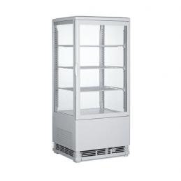 Expositor vitrina Refrigerado 4 Caras 78 litros Blanco