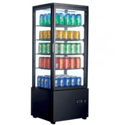 Expositor Refrigerado 4 Caras 98 litros negro