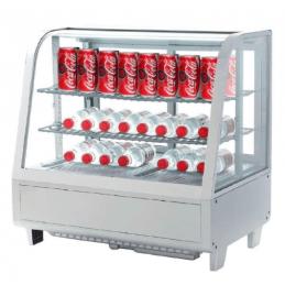 Expositor VITRINA refrigerada 4 caras 100litros - iluminación Led color blanco