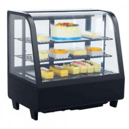 Expositor VITRINA refrigerada 4 caras 100litros - iluminación Led color negro