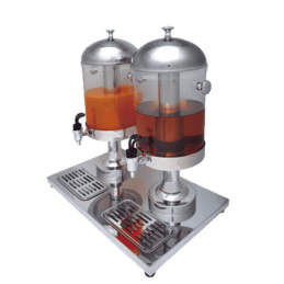Dispensador doble de zumos y bebidas 2 x 8 litros - buffet