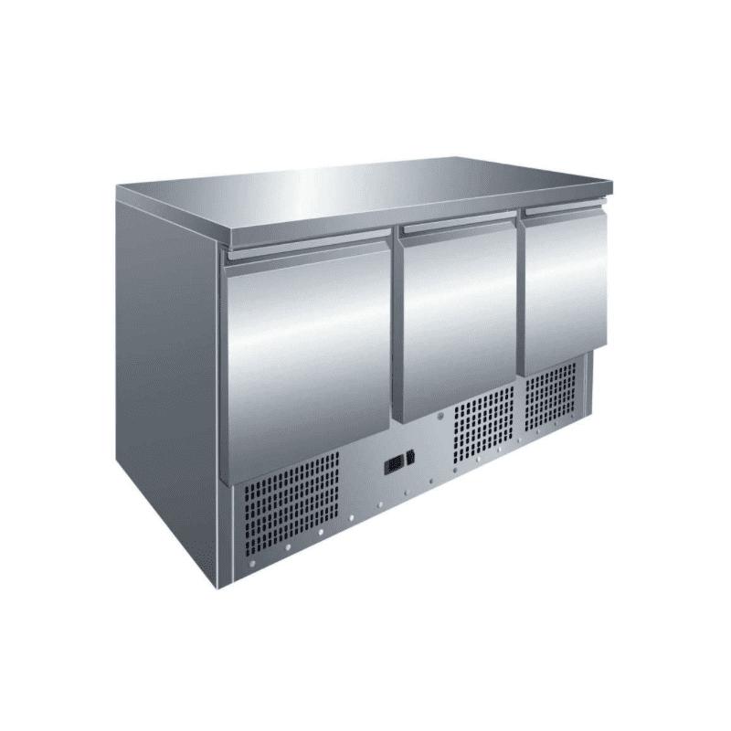 Mesa fría refrigerada 3 puertas - De preparación
