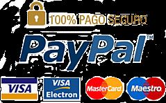 Pago seguro mediante plataformas Paypal, Servired y Amazon.